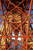 symmetric stock photography | California, San Francisco, Fort Point beneath Golden Gate Bridge, image id 8-721-5
