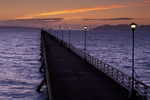 image 9-151-13 California, Berkeley, Berkeley Pier at dusk