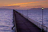golden gate bridge at sunset stock photography | California, Berkeley, Berkeley Pier at dusk, image id 9-151-13
