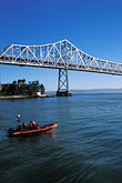 vertical stock photography | California, San Francisco Bay, Bay Bridge from Yerba Buena Island, image id 9-549-42