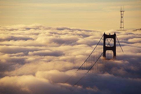 image 9-593-32 California, Marin County, Golden Gate Bridge from Marin Headlands