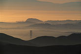 golden gate stock photography | California, Marin County, Golden Gate bridge tower at dawn, image id 9-6-2