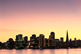 dusk stock photography | California, San Francisco, Skyline from Treasure Island, image id 9-7-28