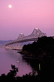 pink sky stock photography | California, San Francisco Bay, Bay Bridge from Treasure Island, image id 9-7-3