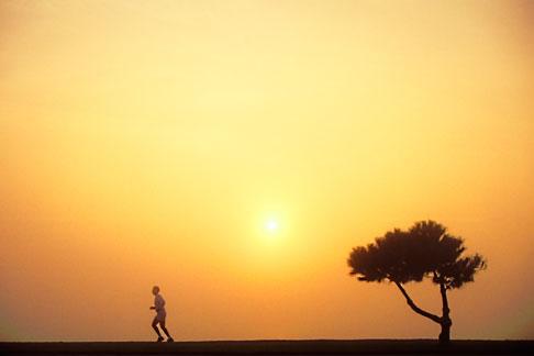 image 9-9-50 Sports, Runner in mist