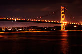 illuminated stock photography | California, San Francisco Bay, Golden Gate Bridge, image id S5-110-7098