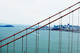 suspension bridge stock photography | California, San Francisco Bay, Golden Gate Bridge and San Francisco, image id S5-110-7263