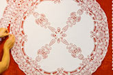 decorative fabric stock photography | Belgium, Bruges, Belgian Lace, image id 8-740-1016