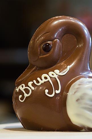 image 8-740-1129 Belgium, Bruges, Belgian chocolate duck