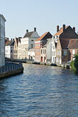 old houses along canal stock photography | Belgium, Bruges, Old houses along canal, image id 8-740-739