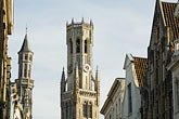horizontal stock photography | Belgium, Bruges, Belfry tower , image id 8-740-758