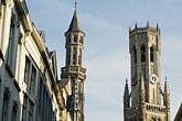 tower stock photography | Belgium, Bruges, Belfry tower , image id 8-740-760