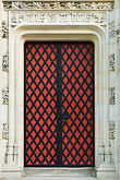 decorated door stock photography | Belgium, Bruges, Ornate decorated dooorway, Burg Square, image id 8-740-833