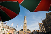 with belfry tower stock photography | Belgium, Bruges, Market Square, Brugge Markt, with Belfry Tower, image id 8-741-2130