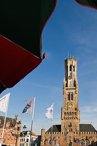 image 8-741-2131 Belgium, Bruges, Market Square, Brugge Markt, with Belfry Tower