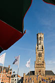 with belfry tower stock photography | Belgium, Bruges, Market Square, Brugge Markt, with Belfry Tower, image id 8-741-2131