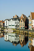 ghent canal houses stock photography | Belgium, Ghent, Ghent canal houses, image id 8-742-1665