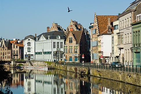 image 8-742-1666 Belgium, Ghent, Ghent canal houses
