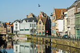 water stock photography | Belgium, Ghent, Ghent canal houses, image id 8-742-1666