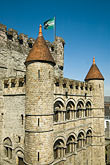 facade stock photography | Belgium, Ghent, Gravensteen (Castle of the Counts), image id 8-742-1690