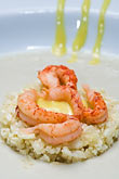 rice stock photography | Belgium, Ghent, Prawns and rice, image id 8-742-1735