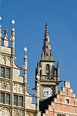 bell stock photography | Belgium, Ghent, Gabled Gothic houses and Belfry, image id 8-742-1774