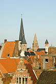 travel stock photography | Belgium, Ghent, Red tile roofed houses, image id 8-742-1974