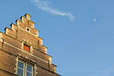 rooftop stock photography | Belgium, Ghent, Gabled house rooftop, image id 8-742-2043