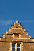 gabled stock photography | Belgium, Ghent, Gabled house rooftop, image id 8-742-2046