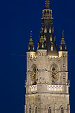 europe stock photography | Belgium, Ghent, Belfry at night, image id 8-742-2106