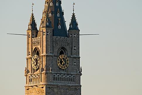 image 8-743-2327 Belgium, Ghent, Belfry tower closeup