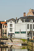 travel stock photography | Belgium, Ghent, Canal and houses, image id 8-743-2361