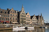 travel stock photography | Belgium, Ghent, Graslei canal waterfont, image id 8-743-2402