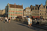 europe stock photography | Belgium, Ghent, Bridge over Graslei Canal, image id 8-743-2485