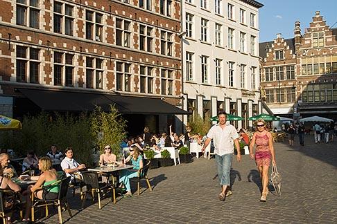 image 8-743-2493 Belgium, Ghent, Pedestrians, Graslei