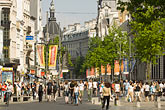 horizontal stock photography | Belgium, Antwerp, Meir, main shopping street, image id 8-744-2136