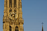 steeple stock photography | Belgium, Antwerp, Cathedral of Our Lady, Onze Lieve Vrouwekathedraal , image id 8-744-2201