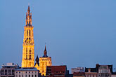 dusk stock photography | Belgium, Antwerp, Cathedral of Our Lady, Onze Lieve Vrouwekathedraal, image id 8-744-2269