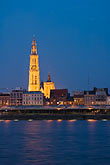 architecture stock photography | Belgium, Antwerp, Cathedral of Our Lady, Onze Lieve Vrouwekathedraal, and River Schelde, image id 8-744-2288