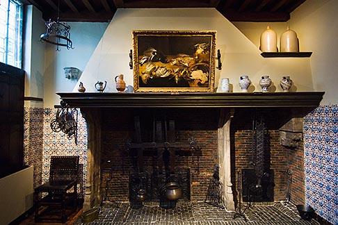 image 8-744-2356 Belgium, Antwerp, Rubens House, fireplace