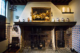 rubens house stock photography | Belgium, Antwerp, Rubens House, fireplace, image id 8-744-2356