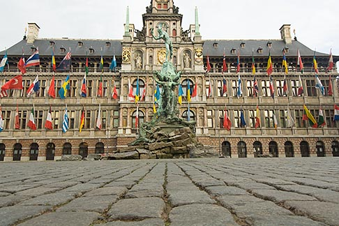 image 8-744-2550 Belgium, Antwerp, Town Hall, Stadhuis, in City Square, Grote Markt