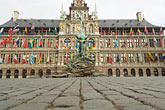 in city square stock photography | Belgium, Antwerp, Town Hall, Stadhuis, in City Square, Grote Markt, image id 8-744-2550