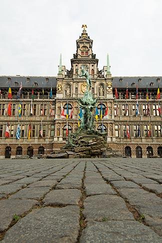 image 8-744-2551 Belgium, Antwerp, Town Hall, Stadhuis, in City Square, Grote Markt