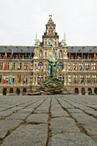 plaza stock photography | Belgium, Antwerp, Town Hall, Stadhuis, in City Square, Grote Markt, image id 8-744-2551