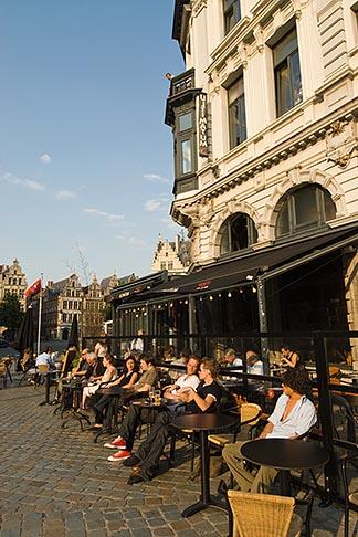 image 8-745-2576 Belgium, Antwerp, Outdoor Cafe, Grote Markt