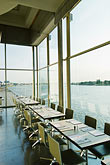 vertical stock photography | Belgium, Antwerp, Zuiderterras restaurant overlooking the River Schelde, image id 8-745-2584