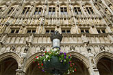 grand square stock photography | Belgium, Brussels, Brussels Town Hall, Arches and facade, Grand Place, Grote Markt, image id 8-746-2639