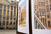 europe stock photography | Belgium, Brussels, City of Brussels Museum, Grand Place, art display, image id 8-746-2719