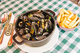horizontal stock photography | Belgium, Brussels, Mussels and frites, Belgian specialty, image id 8-746-2745